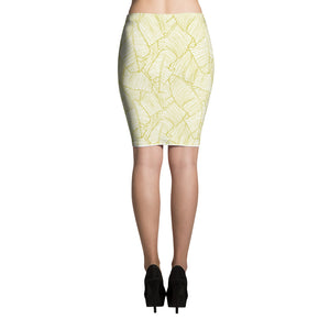 LAPT Pencil Skirt GOLD LEAF