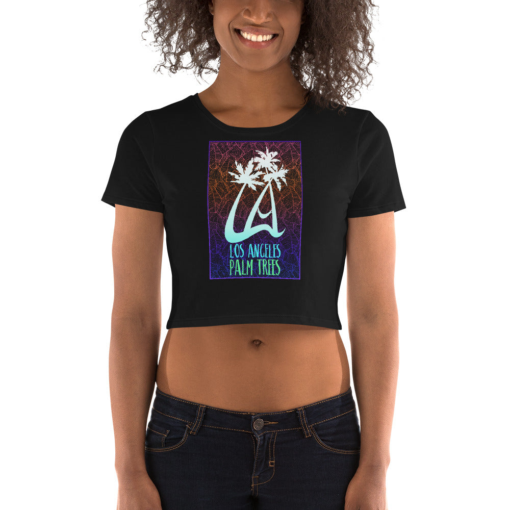 LAPT Women's Crop Tee PACIFIC COOLER PALM