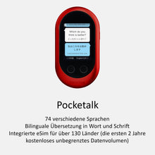 Laden Sie das Bild in den Galerie-Viewer, Pocketalk W