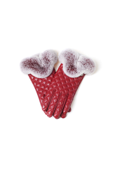 UGG LADIES RABBIT FUR TOUCH SCREEN GLOVE