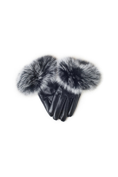 UGG LADIES FOX FUR TOUCH SCREEN GLOVE