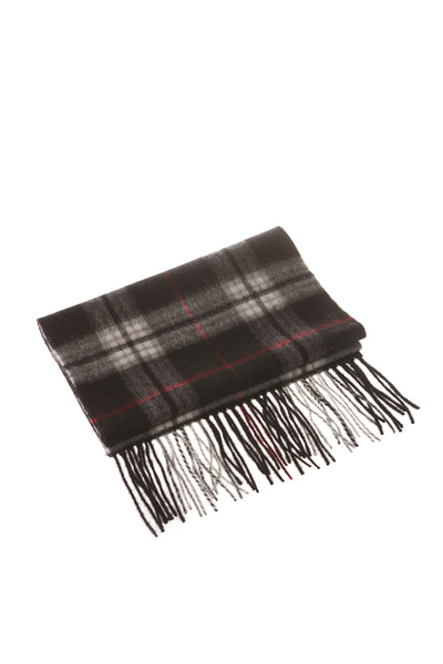 CASHMERE AND WOOL SCARF BLACK CHECK