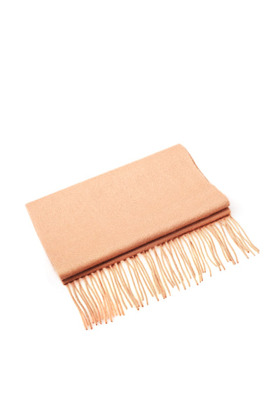 CASHMERE AND WOOL SCARF CAMEL
