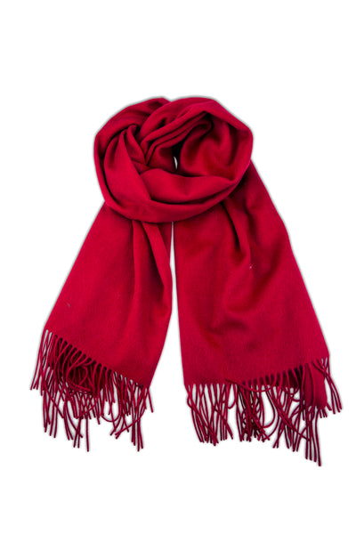 CASHMERE/MERINO WOOL WRAP RED