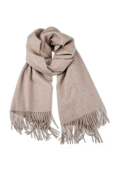 CASHMERE/MERINO WOOL WRAP TAN