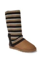 UGG CARDY SOCKS - CHESTNUT/CHOCOLATE/CREAM STRIPE