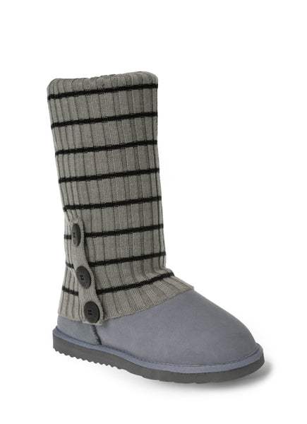 UGG CARDY SOCKS - GREY/BLACK THIN STRIPE