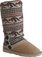 UGG CARDY SOCKS - SAND/BROWN PRINT
