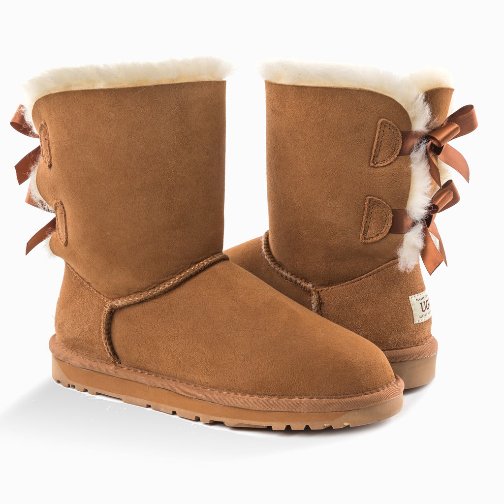 f373755d397 NEW GENERATION' UGG LADIES CLASSIC BAILEY BOW 2 RIBBON BOOTS ...