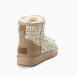 UGG JOSIE KNITTED PEARLS AND CRYSTAL BOOTS