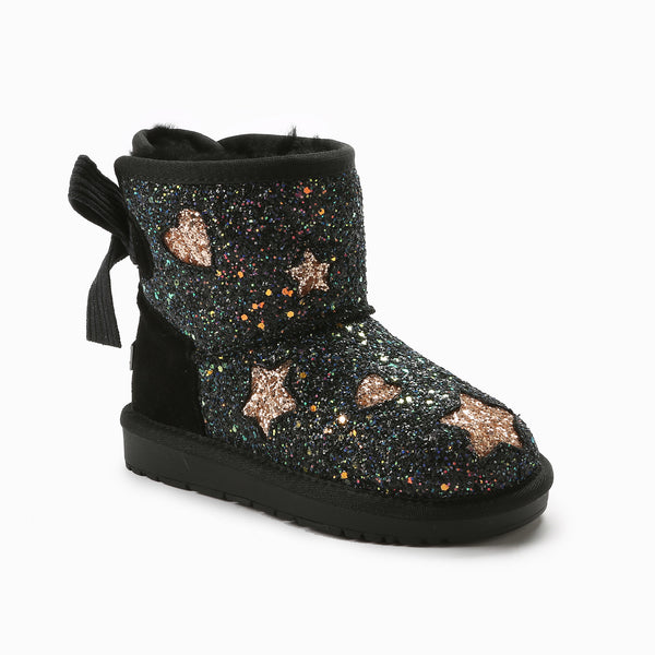 UGG KIDS VALERIE BAILEY BOW GLITTER BOOTS