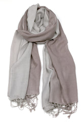 TIE DYE SCARF GREY/TAUPE