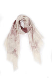 100% MERINO WOOL SCARF CREAM/TAN