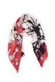 100% MERINO WOOL SCARF CREAM/WINE