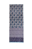 100% AUSTRALIAN MERINO WOOL SCARF PURPLISH CHECK