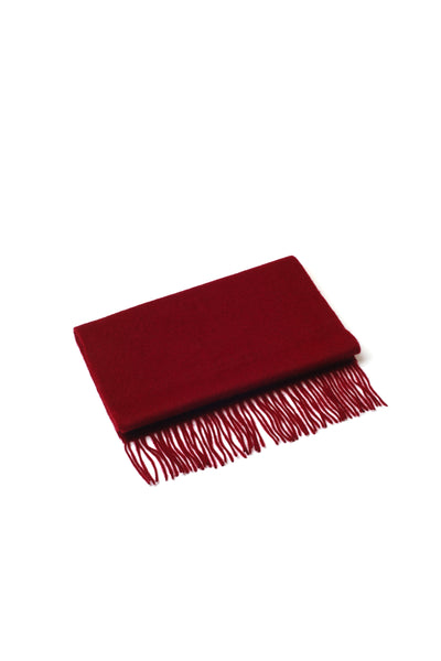 100% WOOL SCARF WINE