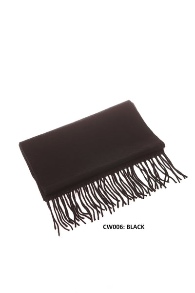 100% WOOL SCARF BLACK
