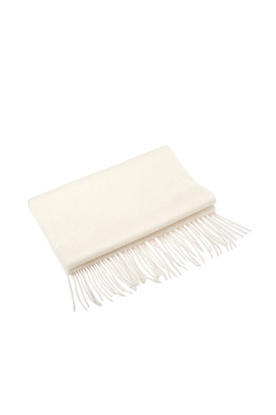 100% WOOL SCARF WHITE