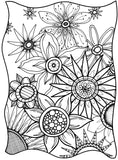 Flowers & Sunshine-A Coloring Book - marjorieblume