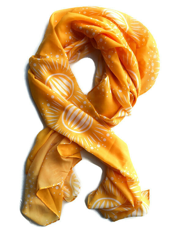 Orange Sunburst Scarf - marjorieblume