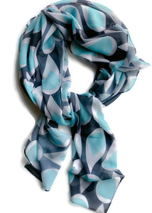 Turquoise Drops Scarf - marjorieblume