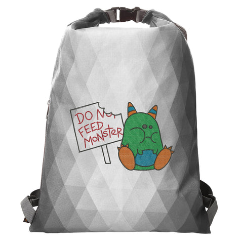 "Rucksack Diamant ""Don't feed the monster"""