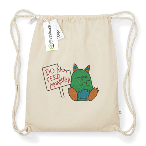 "Rucksack / Turnbeutel ""Don't feed the monster"""
