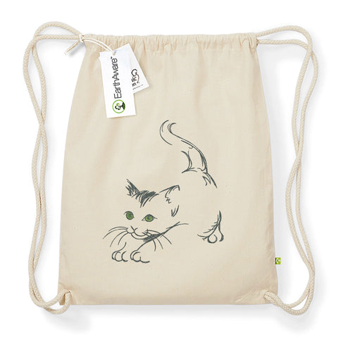 "Rucksack / Turnbeutel ""cat stretch"""