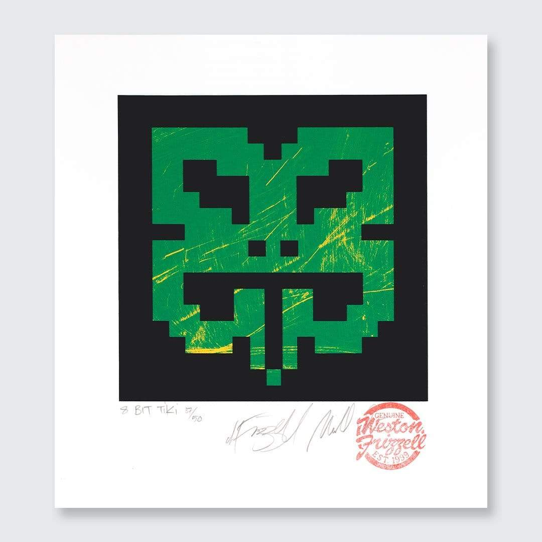 8-bit Tiki Green Screen-Print by Weston Frizzell