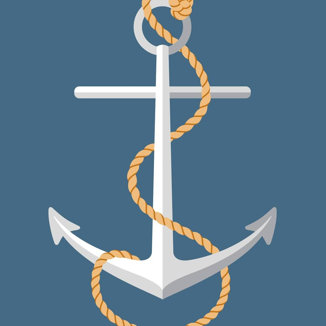 Nautical Man Art Print Series: Anchor by 326