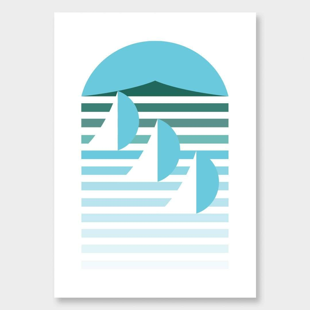 Auckland Scandi Art Print by OSLO