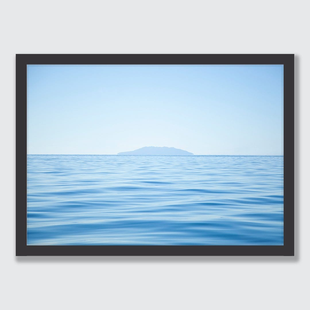 Blue Barrier Photographic Art Print by Elliot Alexander