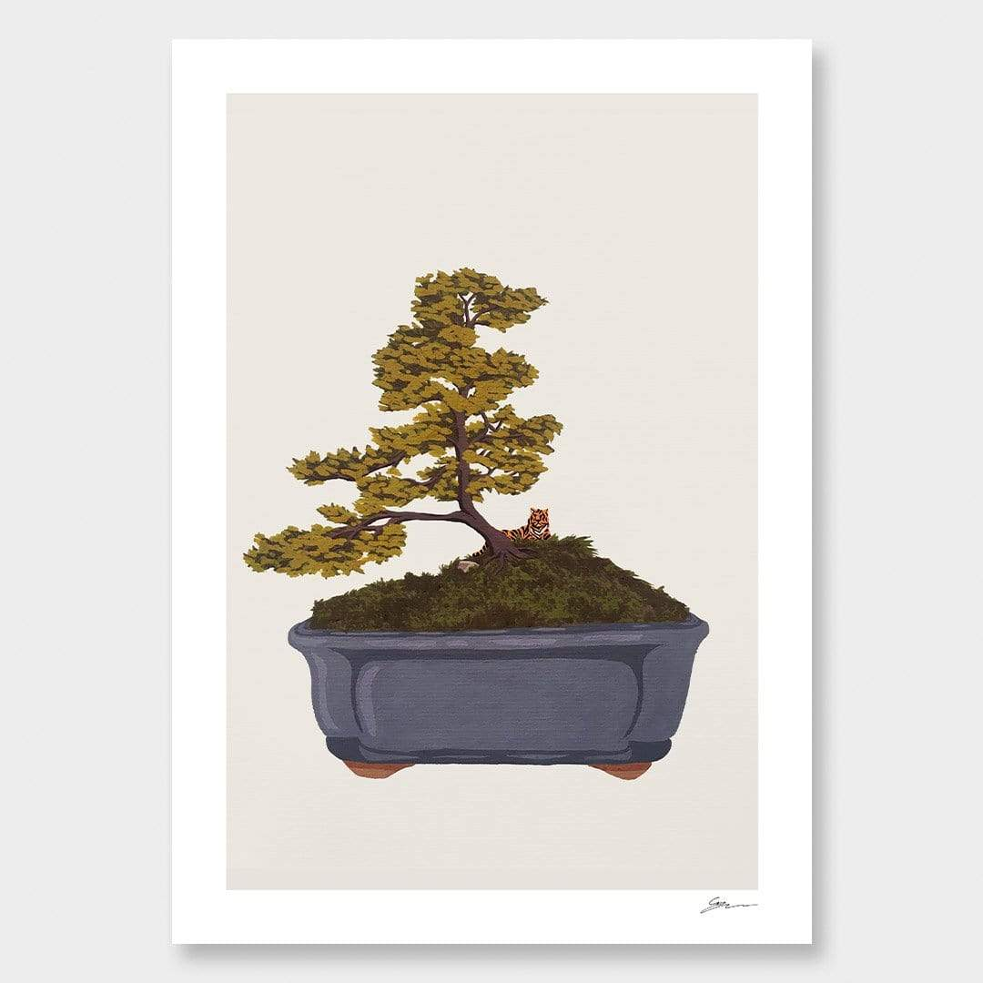 Bonsai Tiger III Art Print by Grace Popplewell