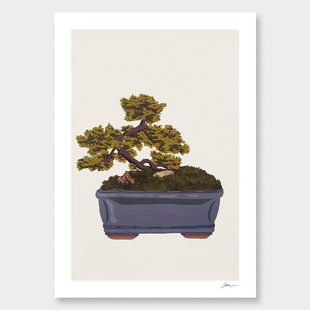 Bonsai Tiger II Art Print by Grace Popplewell