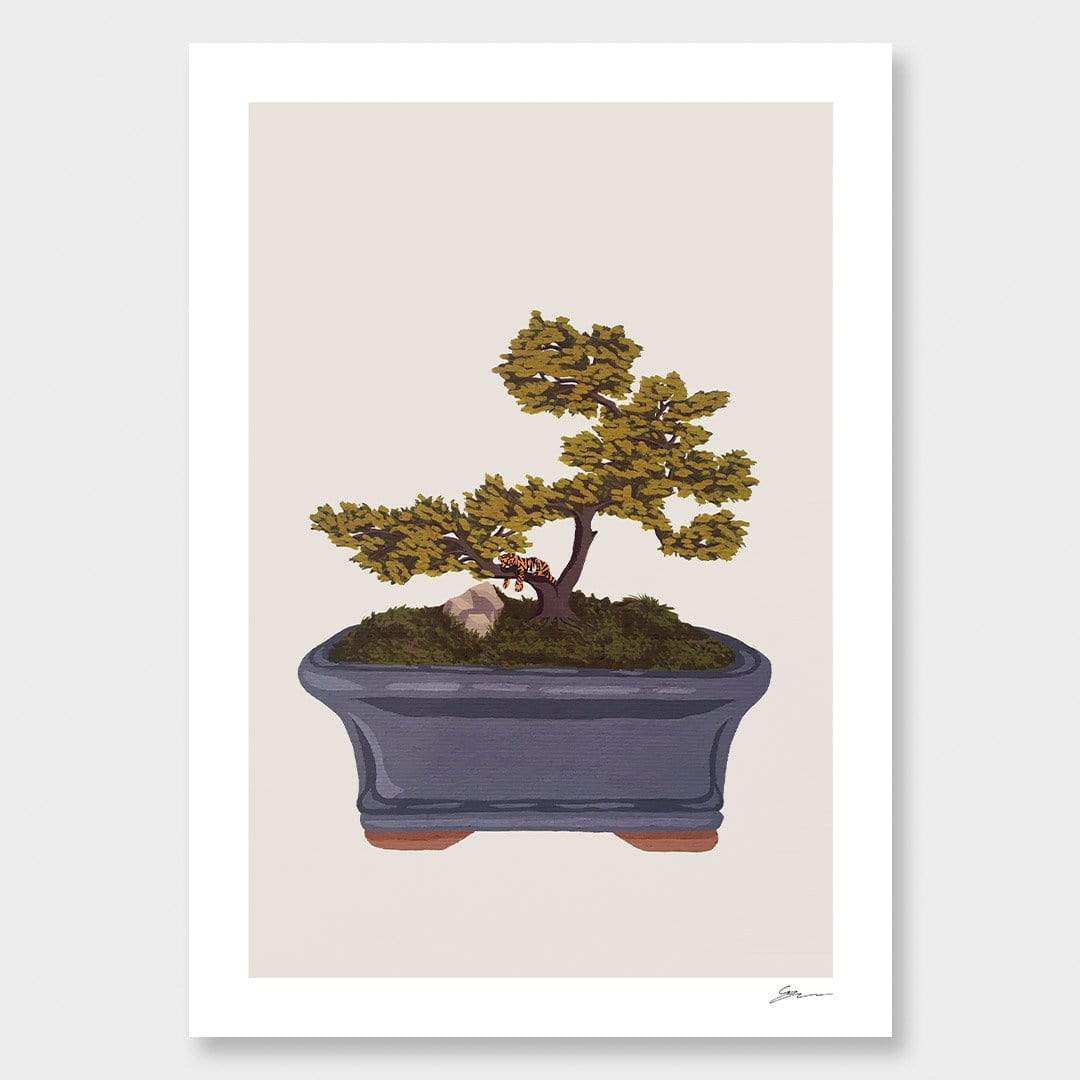 Bonsai Tiger I Art Print by Grace Popplewell