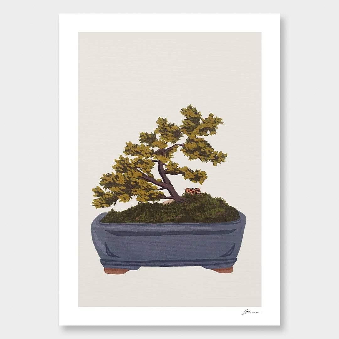 Bonsai Tiger V Art Print by Grace Popplewell