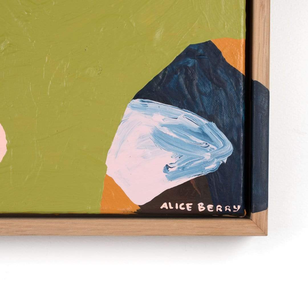 Fig. 11 Green Calcite Original Painting by Alice Berry