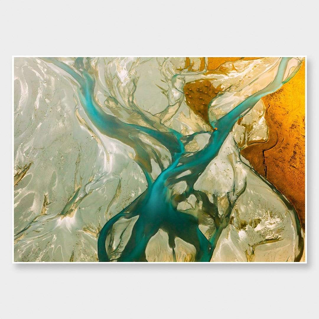 Godley River - Veins Photographic Print by Emma Willetts