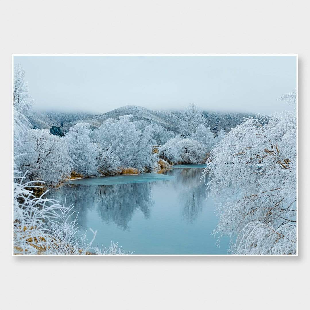 Kellands Pond Hoar Frost Photographic Print by Emma Willetts