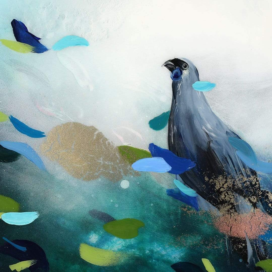 Morning Chorus Kōkako Original Painting by Lucy Davidson