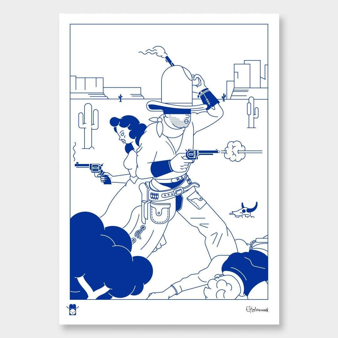 Shootout Art Print by Emile Holmewood