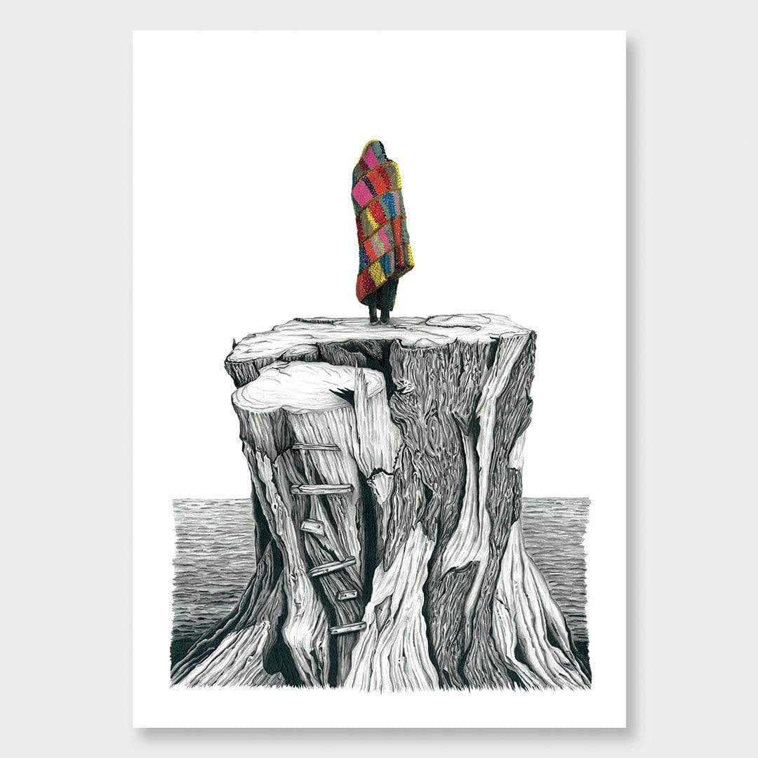 Solo Adventure Art Print by Lotte Hawley
