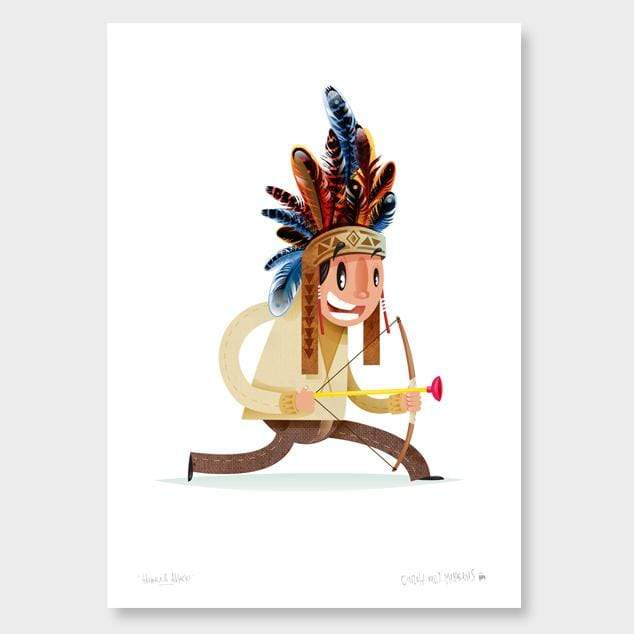Advance and Attack Kids Art Print by Cinzah Seekayem
