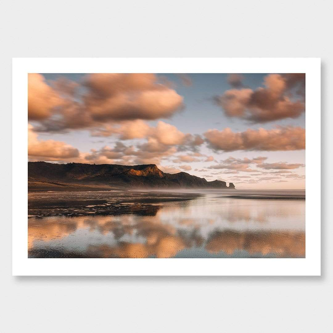 Afternoon Reflections - Bethells Beach Photographic Print by Mike Mackinven
