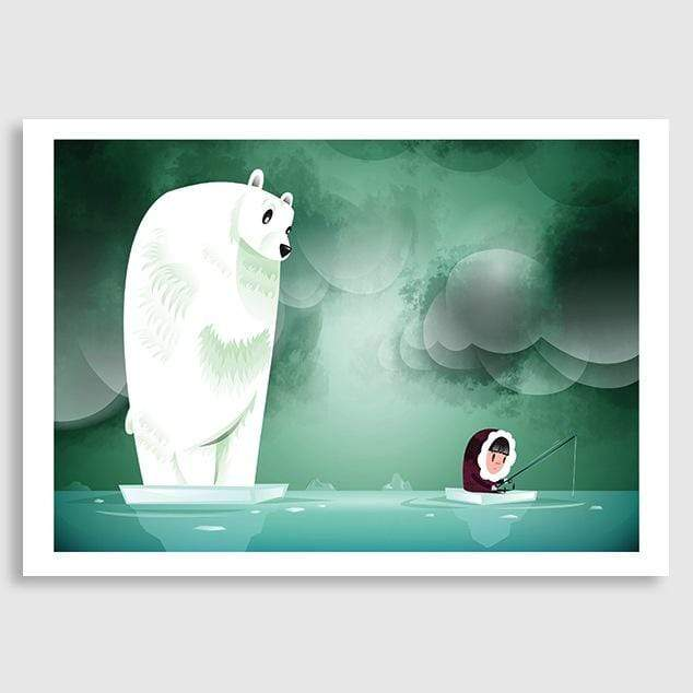 Arctic Fishing Art Print by Cinzah Seekayem