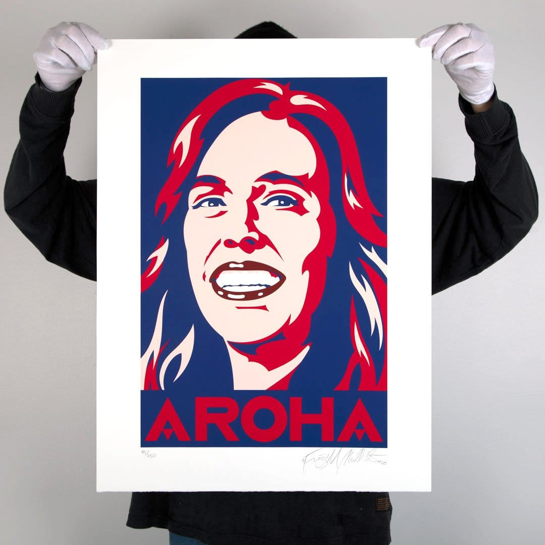 Aroha Screen-Print by Weston Frizzell