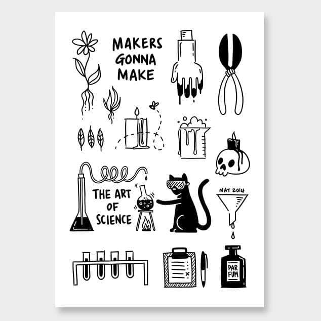 Art Of Science Art Print by Natasha Vermeulen
