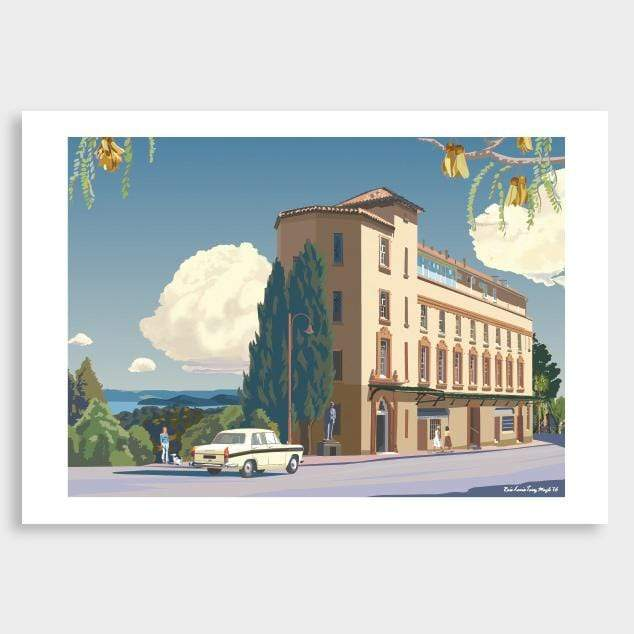 Auckland Lopdell House Art Print by Contour Creative Studio