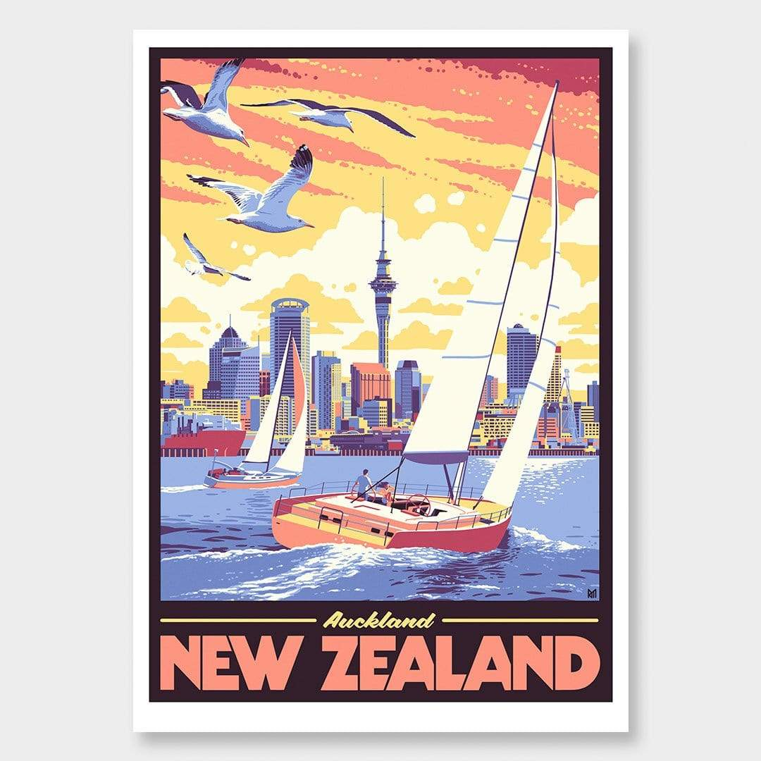 Auckland Art Print by Ross Murray