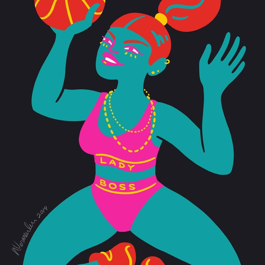 Basketball Art Print by Natasha Vermeulen